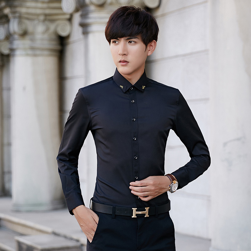 Male long-sleeve shirt the groom married wedding formal clothes customize shirt menx27s tx2dshirt camisa masculina men shirt ...
