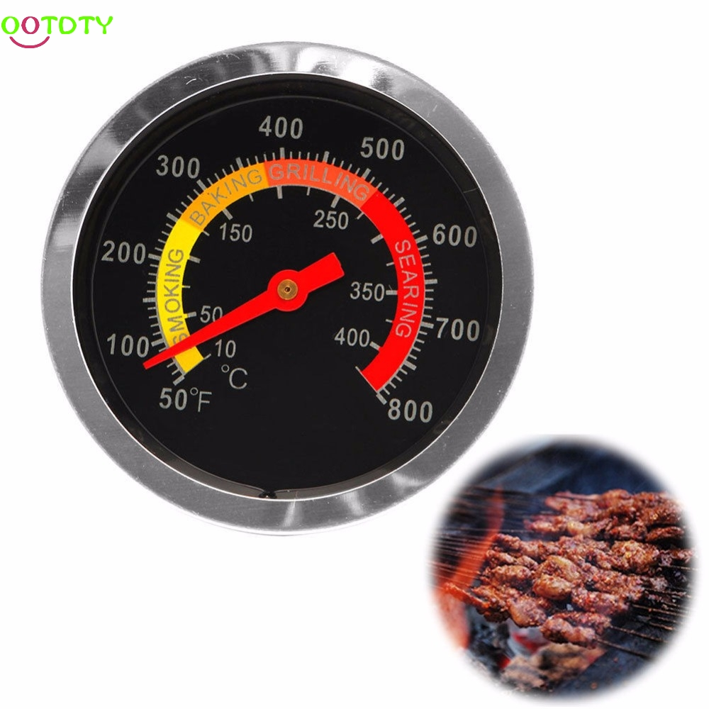8~ Barbecue BBQ Grill Thermometer Temp Gauge Outdoor Camping Cook Food Tool