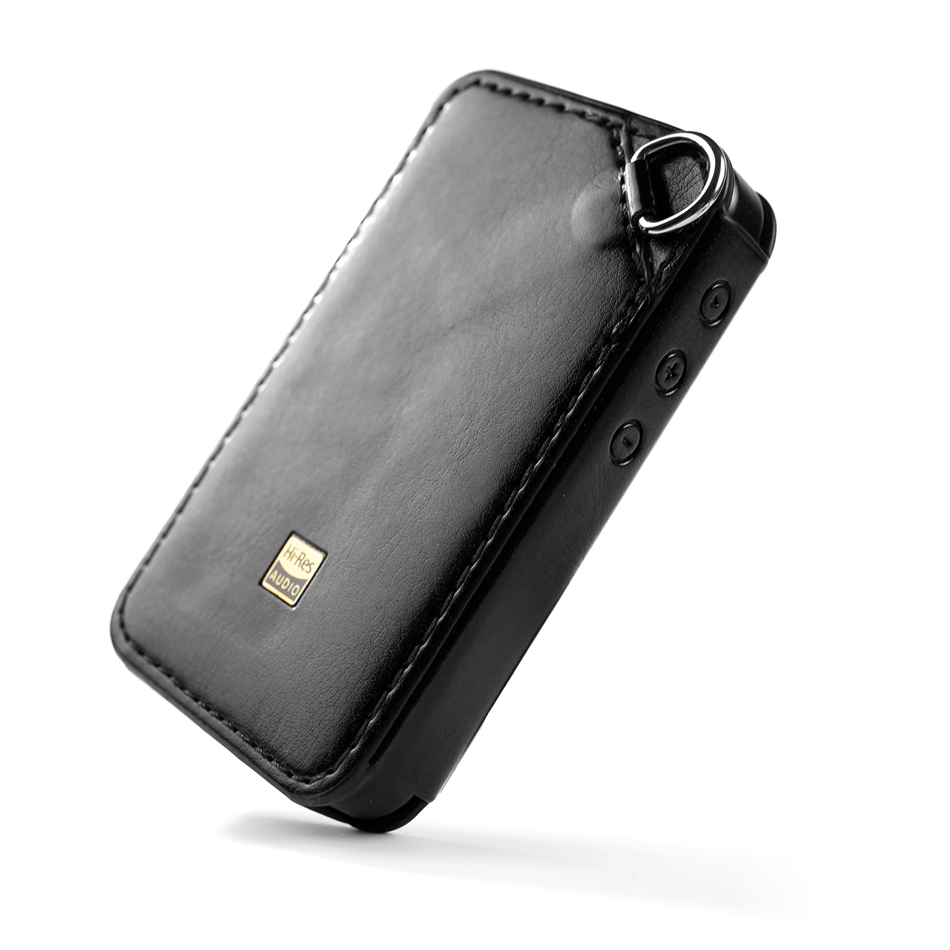 C-M6 Leather Case for FiiO M6, Hi-res player M6 Leather cover. Black leather
