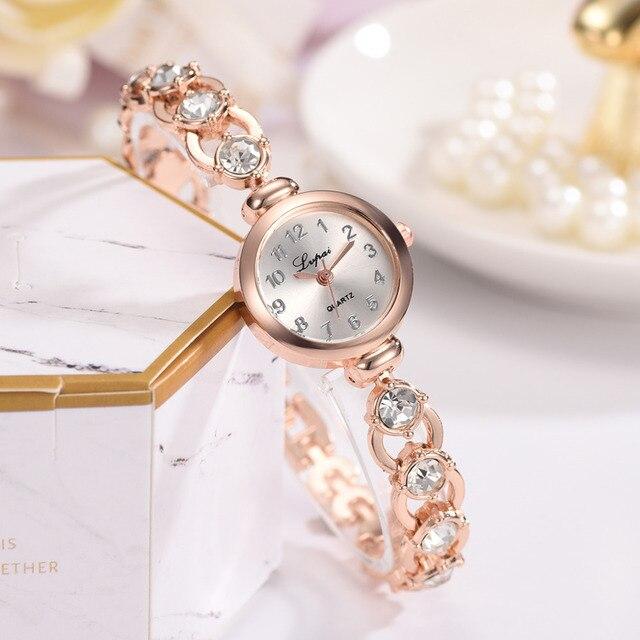 44f8a82c683 Lvpai Verão Estilo Mulheres Pulseira de Relógios De Ouro Das Mulheres  relógio de Pulso Ladies Relógio