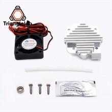 Trianglelab 3d printer parts 1.75/3mm aluminum Titan Aero extruder Upgrade Kit 12V/24V fan Free shipping reprap mk8 prusa i3