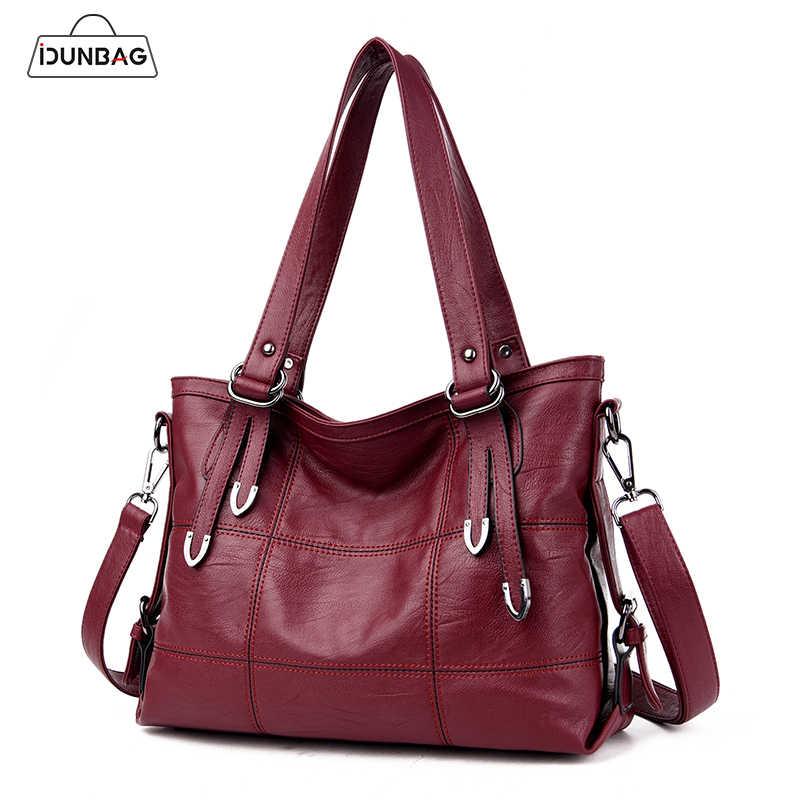ccf5d68e5dbfc Stitch Big Shoulder Bags Women Bag Ladies Pu Leather Tote Bag Women Top-handle  Bags