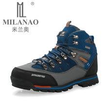 À prova d' água Genuína Botas de Couro Ao Ar Livre Sapatos de Caminhada Novo Outono Inverno Do Esporte Dos Homens Sapatos de Escalada de Montanha de Trekking Botas de Camurça(China (Mainland))