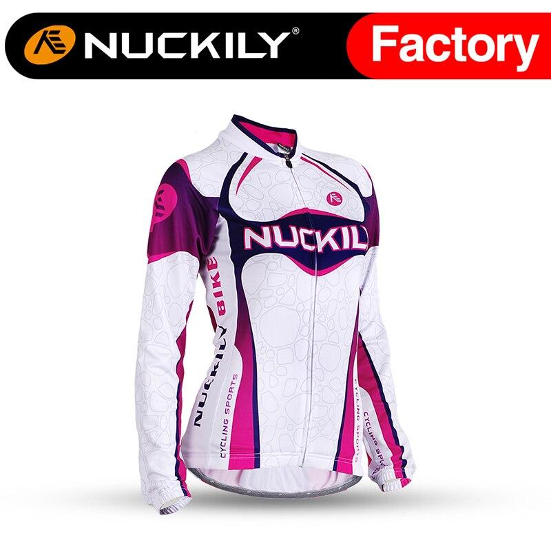 ФОТО Nuckily Women's Winter custom top quality sport thremal long sleeve cycling jersey GI001