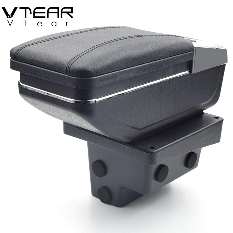Vtear Per Volkswagen Tiguan Braccioli box centrale casella dei contenuti Negozio con il supporto di tazza interni auto-styling accessorio parte 2009 -2017