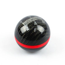 Universal Genuine Carbon Fiber Mugen Five/six Speed Manual/Automatic Spherical Gear Shift Knob For Honda Acura/TOYOTA