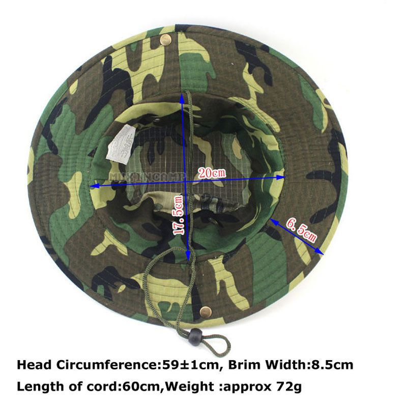 UNISEX CLASSIC US COMBAT ARMY STYLE GI BOONIE BUSH JUNGLE HAT SUN CAP COTTON RIPSTOP