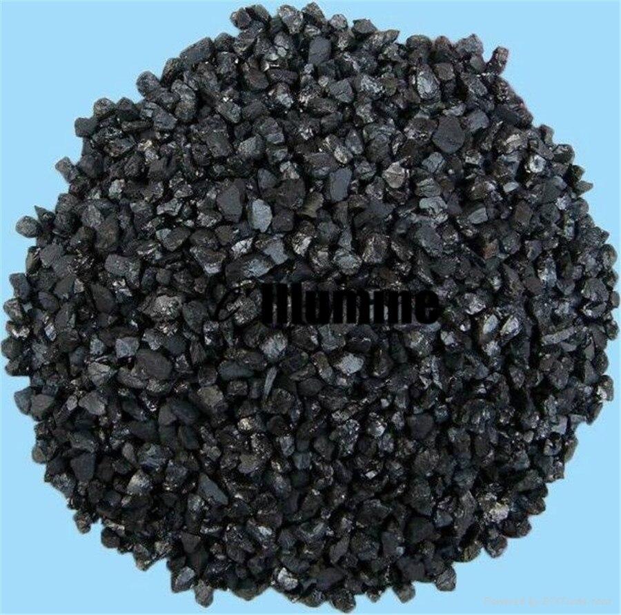 Matériaux de charbon actif de couleur noire Pure élimination des odeurs Purification de leau potable 100g