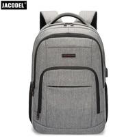 2018 Jacodel Men Mochila Laptop Backpack Women Waterproof Oxford Cloth Business Laptop Bags 15 6inch Notebook