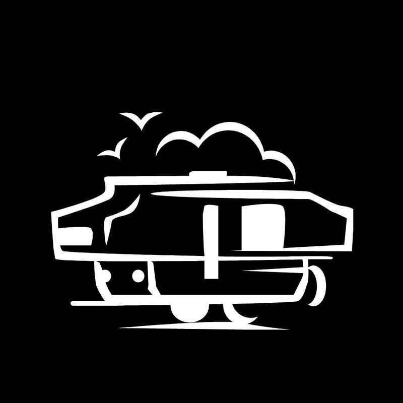17.7*12.8 CM Diversão Barraca de Acampamento Do Carro Etiquetas Dos Desenhos Animados Da Motocicleta Decalques de Vinil Preto/Sliver C7-1331