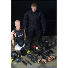 """HOT! NOUVEAU 1 pcs 12 """"1/6 SWAT Noir Uniforme Militaire de L'armée Combat Jeu Jouets Soldat Ensemble avec la Boîte de Détail Action Figure Modèle Jouets E"""