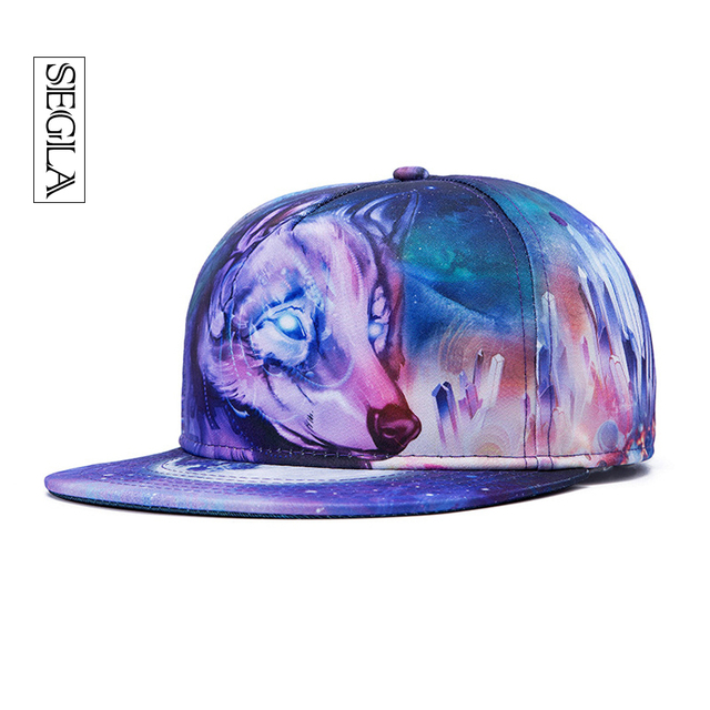 SEGLA Sports&Outdoor 3D Baseball Cap Adjustable Flat Wild Wolf Snapback Casquette Leisure Gorras Breathable Bones Unisex Sun Hat