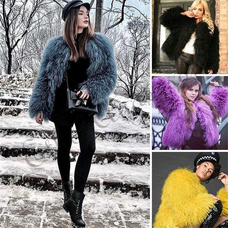 ETHEL ANDERSON Women Lamb Fur Coat Tan Sheep Fur Coats Short Whole Skin Jacket 50cm Mongolia Sheep Fur Midwaist Length