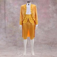 Cosplaidy для взрослых мужские золотые викторианской элегантный готический аристократ 18th века джентльмен костюм нарядное праздничное свадебн