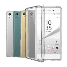Case Transparent For Sony Xperia XZ1 XZs Z5 Compact XA1 Ultra Plus X XA XZ XZ Premium Plus L1 Z3 M4 M5 Aqua C4 C5 Soft TPU Cover(China)