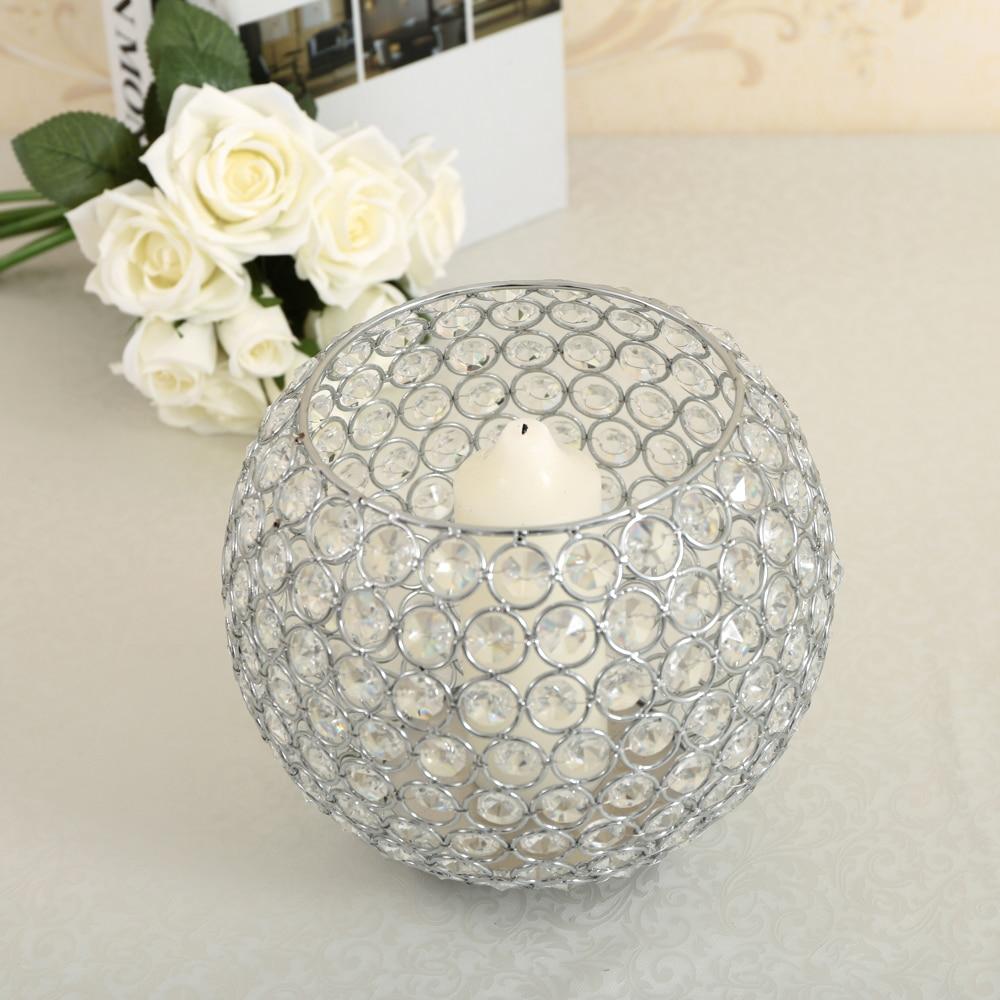 20cm Diameter Glass Display Vases/Bowl Tea Light Candle Holders for ...