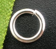 Doreenbeads 200 peças banhado a prata anéis de salto aberto 7mm de diâmetro. Achados
