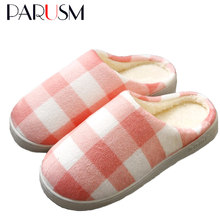Women Winter Warm Ful Slippers Women Slippers Cotton Lovers Home Slippers Indoor Plush Size House Shoes Woman Sneakers Wholesale(China)