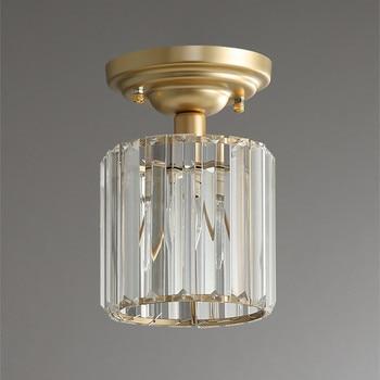 Moderno Pasillo De Cristal LED Luces De Techo Interior Lámparas Corredor Porche Comedor Moderna Lámpara De Techo LED