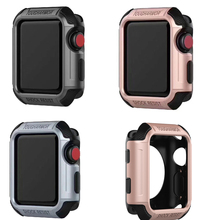 все цены на Protective soft Case for Apple Watch band Tough armor cover 38mm Series 1/2/3  ,For iwatch TPU 42mm cover antishock back case онлайн