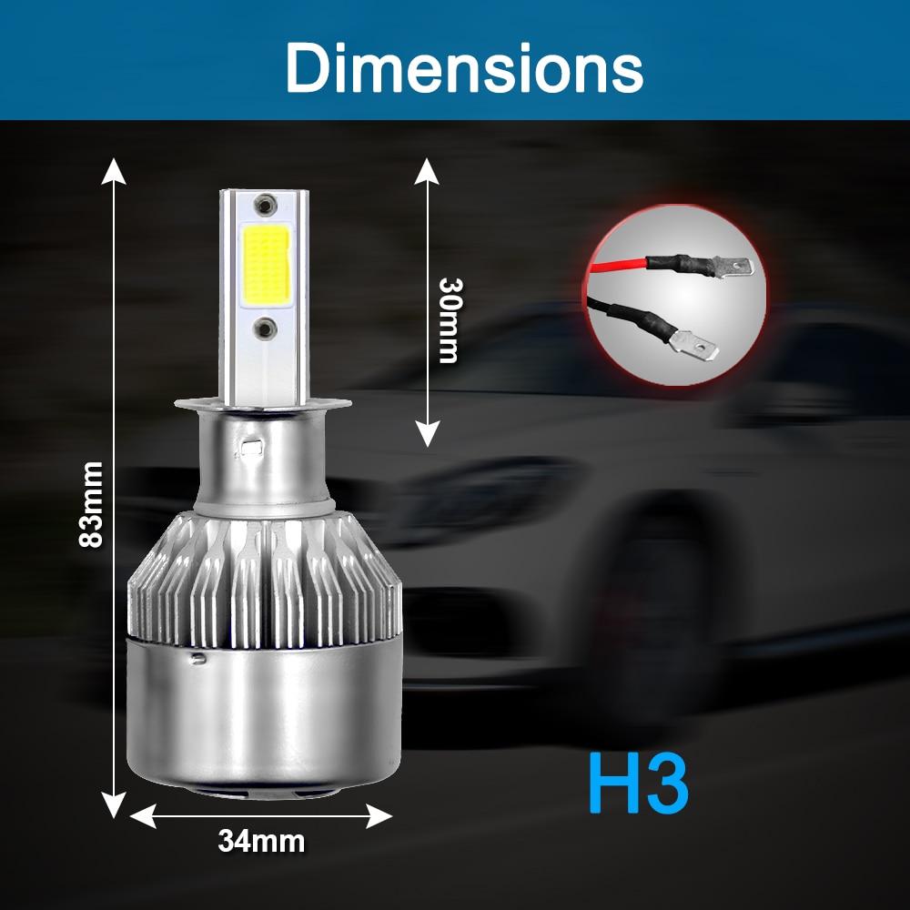 HTB1a6BJbtfvK1RjSspfq6zzXFXaM PANDUK C6 H1 H3 Led Headlight Hulbs H7 LED Car Lights H4 880 H11 HB3 9005 HB4 9006 H13 6000K 72W 12V 24V 8000LM Auto Headlamps