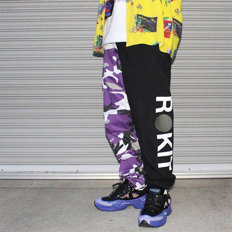 Zk Camo Cargo Herren Hosen Mode Taktische Hosen Hip Hop Casual Streetwear Camouflage Hosen Lose Stricken Lauf Patchwork Rokit Delikatessen Von Allen Geliebt Jogginghose