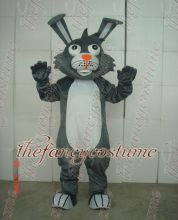 New adult sizeGray rabbit Mascot Costume Rabbit Fancy costume Character