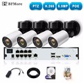 BFMore 4CH H.265 PTZ 5.0MP POE 4X Zoom NVR Kit CCTV System IP Camera Outdoor Video Security Surveillance Set Outdoor Waterproof