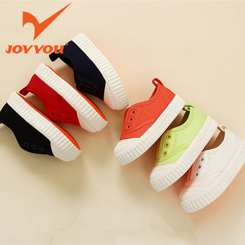 JOYYOU Brand Kids Shoes Boys Girls Canvas School Sneakers Children Teenage Footwear Baby Toddler White For child Fashion Shoes hobibear classic sport kids shoes girls school sneakers fashion active shoes for boys trainers all season 26 37