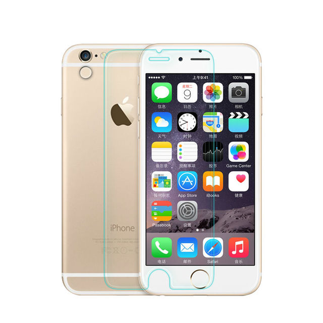 Tempered glass Screen Protector For iphone 4 5 5 6 S Plus Super hardness Ultra Thin Premium protective Front Film