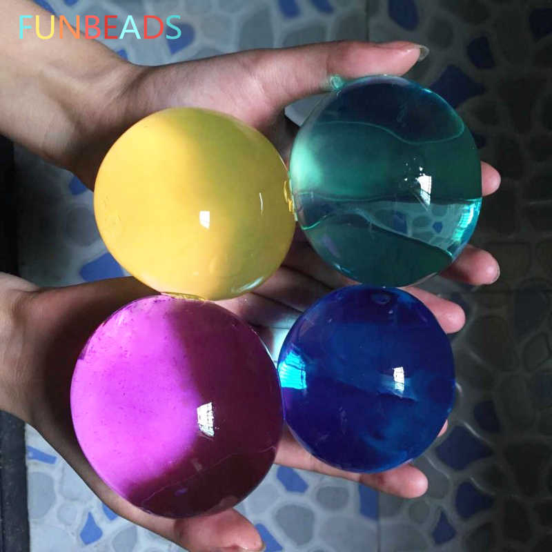 25pcs/lot 45-60mm Pearl Shape Hydrogel Gel Orbits Growing Water Balls Multicolor Orbizi Water Beads Orbiz Ball SJ13-15mm