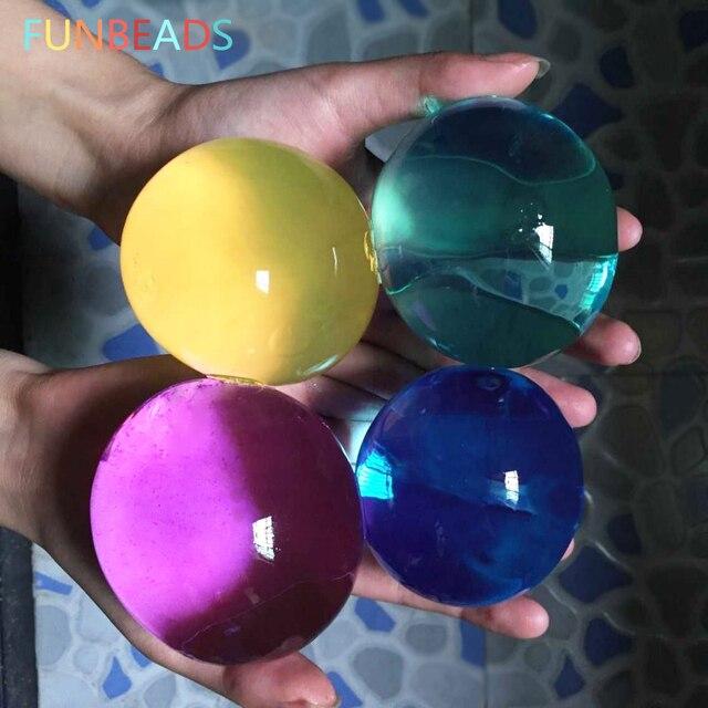 25pcs/lot 45-60mm Pearl Shape Hydrogel Gel Orbits Growing Water Balls Multicolor Orbizi Water Beads Orbiz Ball