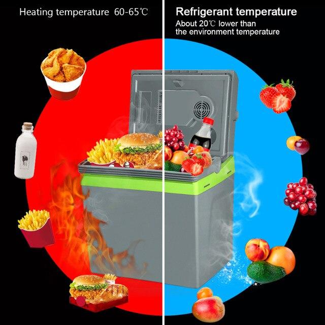 25L Главная Портативный Термоэлектрический Автомобильный Холодильник 12 В Охладитель Теплее Двойного Назначения Большой Емкости Путешествия Холодильник