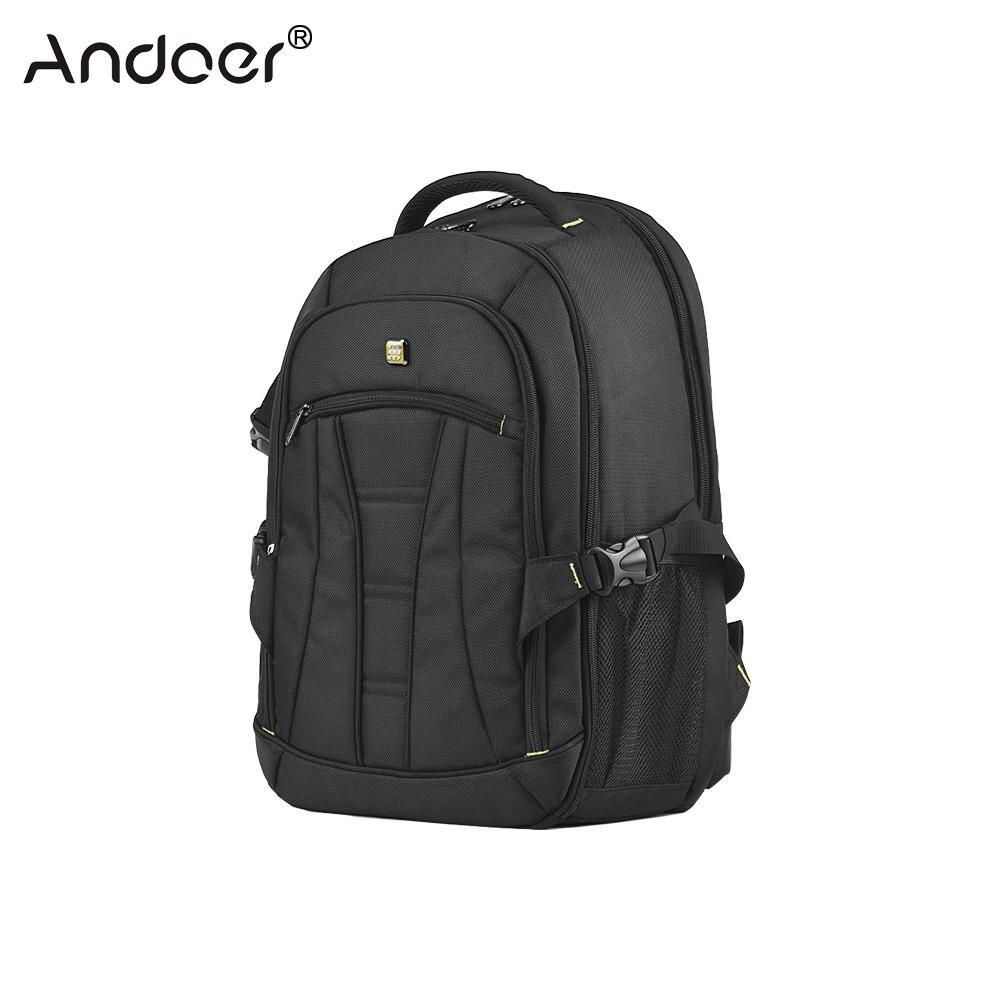 Andoer Professional Large Capacity DSLR Camera Backpack Waterproof Shockproof Travel Tablet Laptop Shoulder Bag w Rain