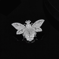 [MeiBaPJ]Real S925 Sterling Silver Bumblebee Brooch Fashion Personality all match for Women Fine Party Jewelry