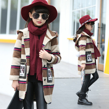 Baby Girls Autumn Winter Jacket Coat Children Long Coat Girl Warm Outerwear Coats Cashmere Overcoat Outwear Kids Clothing H25