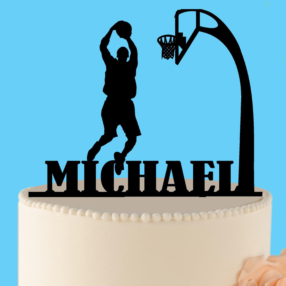 Personalized name Basketball Happy Birthday cake topper, Sport cake topper,  Custom Basketball Birthday party Decor SuppliesPersonalized name Basketball Happy Birthday cake topper, Sport cake topper,  Custom Basketball Birthday party Decor Supplies
