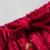 Nueva Llegada Rojo Chino de Los Hombres Satén Tai Chi Kung Fu Wu Shu Pantalones Pantalones Elásticos de La Cintura Sml XL XXL XXXL 2519-2