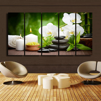 BANMU Leinwand-malerei Home Decoration Bilder Wandbilder Für Wohnzimmer Kein Rahmen Frühjahr Stein Bambus Bild Modularen Bilder