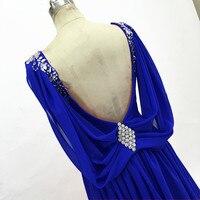 Prom Dresses 2018 chiffon formal evening dress floor length A Line V neck Vestido De Festa Long Prom Dress for party Gowns