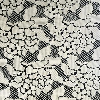 5y Exquisite Polyester Nigerian African Cord Lace Fabrics 2018 High Quality Guipure French Lace Fabric For Women Dress Material