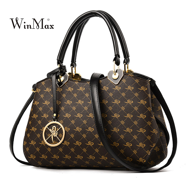 Fashion Women Bag 2018 Women Leather Handbags Print Messenger Bags For Women Luxury Handbag Ladies Bolsos Female Shoulder Bag 3d frog print ladies handbag women lovely note pattern handbags handbag messenger bag purse multifuction bags