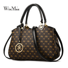 Fashion Women Bag 2018 Women Leather Handbags Print Messenger Bags For Women Luxury Handbag Ladies Bolsos Female Shoulder Bag стоимость