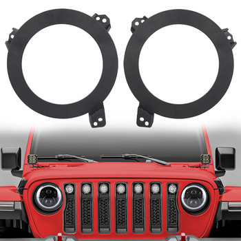 2Pcs/Set 7 Inch Round LED Headlight Mounting Bracket Ring Mount Holder Steel Extension For Jeep Wrangler JL 2018 2019