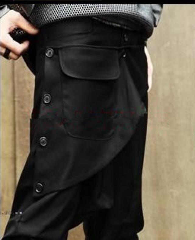 Hommes Harem Grand Plus Porter Entrejambe 44 Costumes Nouveau Noir Chanteur De Taille 27 2019 Façons La Pantalon Deux Vêtements ZwtqBX7
