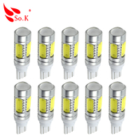 20PCS Chips 7 5W T10 W5W White CANBUS OBC Error Free Interior Lights Car LED Bulbs