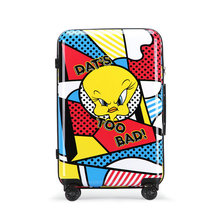 Looney Tunes Animated Cartoon Series Luggage Men and Women Cute Travel Suitcase PC Universal Wheels Trolley Luggage 20″ 24″