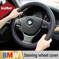Estilo Do Carro Cobertura de Volante de couro Da Tampa do Caso Para BMW E46 E39 E60 E90 F30 F20 F10 M X1 X3 X5 X6 E36 E34 E53 E61 Auto acessórios