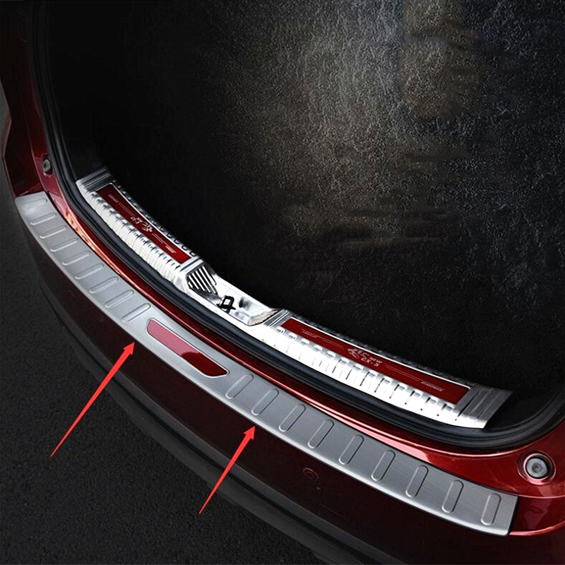Steel Interior Rear Boot Trunk Fender Plate Trim 1PCS For Mazda CX-5 2017-2018