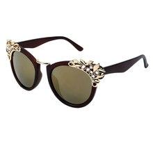 New 2016 Women Luxury Brand Sunglasses Jewelry Flower Rhinestone Decoration Sun glasses Vintage Shades Eyewear gafas de sol Z1